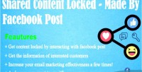 Content shared locked post made facebook by