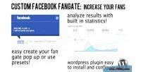 Custom facebook fan gate wordpress for plugin