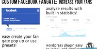 Custom facebook fan gate wordpress for plugin