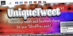 Customize uniquetweet shares facebook tweets