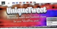 Customize uniquetweet shares facebook tweets