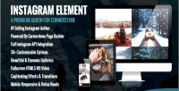 Element instagram cornerstone wordpress for element