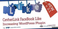 Facebook cevherlink like plugin wp increasing