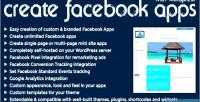 Facebook create wordpress with apps