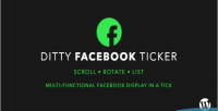 Facebook ditty ticker