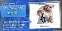 Funny facebook pop up button dislike facebook
