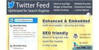 Feed twitter optimized engines search for