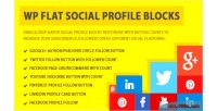 Flat wp blocks profile social