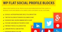 Flat wp blocks profile social