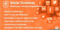Giveaway social wordpress plugin