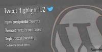 Highlight tweet shortcode wordpress tweetable