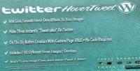 Hover twitter wordpress for tweet