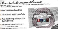 Image social wordpress for hover