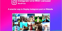 Instagram saragna social stream with grid wordpress for carousel