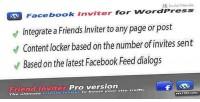 Facebook inviter & content wordpress for locker