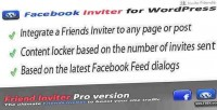 Facebook inviter & content wordpress for locker