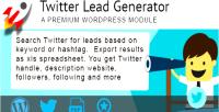 Lead twitter generator