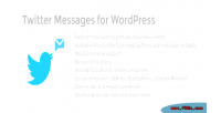 Messages twitter for wordpress