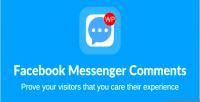 Messenger facebook wordpress for comments