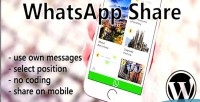 Mobile whatsapp wordpress for share