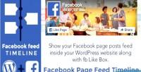 Page facebook feed plugin wordpress timeline