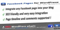 Pages facebook wordpress for integration