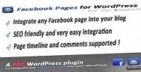 Pages facebook wordpress for integration