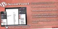 Panel social for wordpress