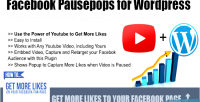 Pausepops facebook for wordpress