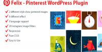 Pinterest felix plugin wordpress responsive