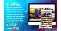 Portfolio pinterest plugin wordpress widget