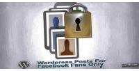 Posts wordpress fans facebook for