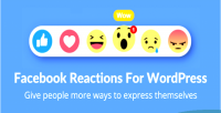 Reactions facebook for wordpress