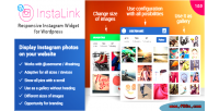 Responsive instalink wordpress widget instagram
