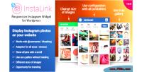 Responsive instalink wordpress widget instagram