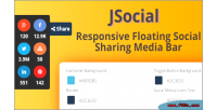 Responsive jsocial floating media sharing social