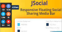Responsive jsocial floating media sharing social
