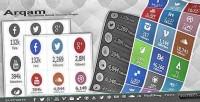 Arqam retina responsive wp plugin counter social