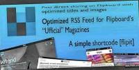 Rss flipboard feed shortcode