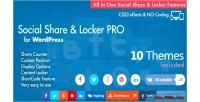 Share social locker plugin wordpress pro