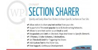 Sharer section social text selected share