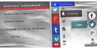 Sidebar social for wordpress