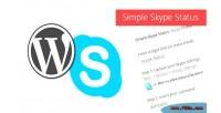 Simple wordpress widget status skype