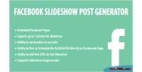 Slideshow facebook post generator