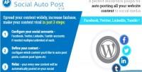 Social accesspress auto post
