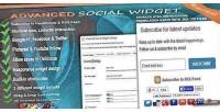 Social advanced widget