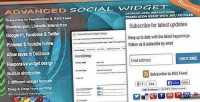 Social advanced widget