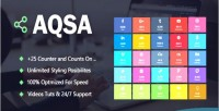 Social aqsa counter wordpress for plugin
