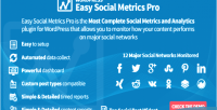 Social easy metrics wordpress for pro