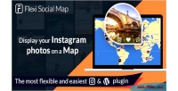 Social flexi map display map the of journey instagram your